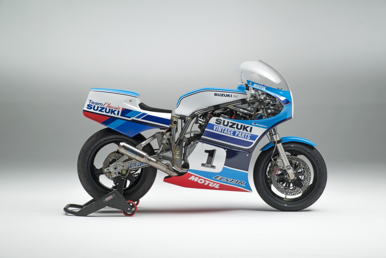 Vintage Parts Team Classic Suzuki Launched at Motorcycle Live   Team